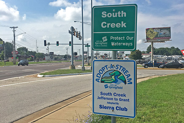 adopt a stream sign for south creek
