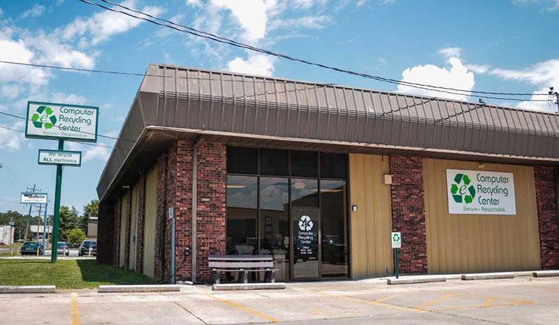 exterior photo of computer recycling center